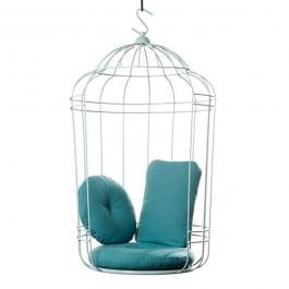 Balancelle Cageling avec Coussins d'Assise, de Dossier et d'Agrément Bleu Ontwerpduo Jardinchic