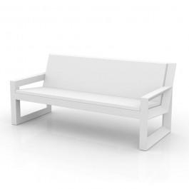 Canapé Frame Blanc / Coussins Nautic Blanc Vondom Jardinchic