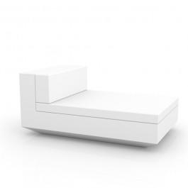 Canapé Modulable Vela - Module Central Chaise Longue Blanc Vondom Jardinchic