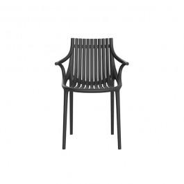 Chaise avec Accoudoirs Ibiza Noir Vondom Jardinchic