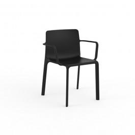 Chaise avec Accoudoirs Kes Noir Vondom Jardinchic