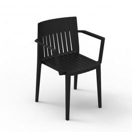 Chaise Avec Accoudoirs Spritz Noir Vondom JardinChic