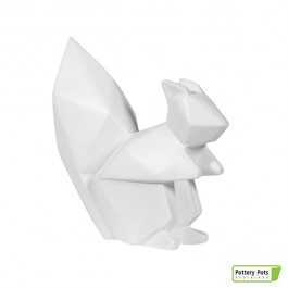 Écureuil Origami Squirrel Paper Format L Matt White Pottery Pots Jardinchic