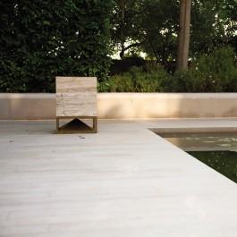 Enceinte Cube 400 Travertin Classico Architettura Sonora Jardinchic