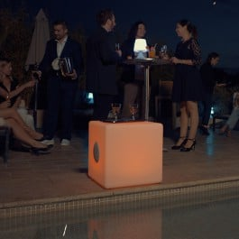 Enceinte Lumineuse Sans Fil Cube L Light And Sounds Jardinchic