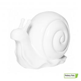 Escargot Déco Snail Format L Glossy White Pottery Pots Jardinchic