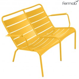 Fauteuil Bas Duo Luxembourg Miel Fermob Jardinchic