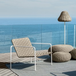 Fauteuil Lounge Jackie Blanc-Taupe Talenti Jardinchic