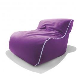 Fauteuil Birba Tissu Violet Zip Blanc Parri JardinChic