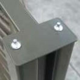 Fixation pour Poteau de Claustra / Panneau Tressage Synthétique Ambiance JardinChic