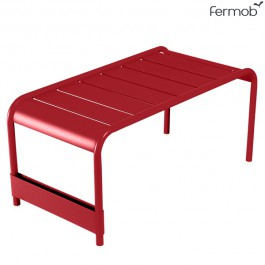 Grande Table Basse / Banc Luxembourg Coquelicot Fermob Jardinchic