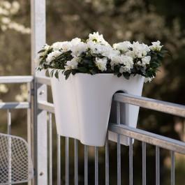 Jardinière de Balcon Steckling Duo Blanc Rephorm Jardinchic