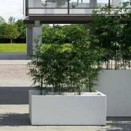 Jardinière Kube Blanc avec système d'auto-irrigation Euro3Plast JardinChic