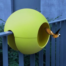Mangeoire de Balcon Ballcony Birdball Lime Rephorm Jardinchic