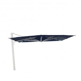 Parasol Borée Blanc Toile Teint Masse Bleu Nuit Vlaemynck Jardinchic