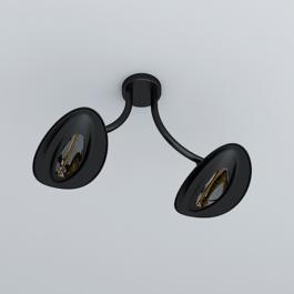 Plafonnier Chauffant Double Modèle Noir Phormalab JardinChic