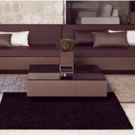 Plateau en Verre Bronze Fumé Opaque pour Table Basse Vela Vondom Jardinchic