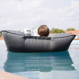 Pouf Flottant Pool Bull anthracite jardinchic