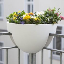 Pot pour Balcon d'Angle Eckling Blanc Rephorm Jardinchic