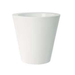 Pot Kuno Gloss Avec Réserve d'Eau Blanc Euro3Plast JardinChic