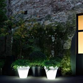 Pot Lumineux Vas Three Light neutre Jardin Serralunga JardinChic