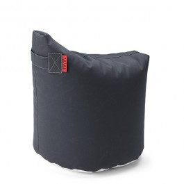 Pouf Satellite H48cm Graphite-Black Trimm Copenhagen Jardinchic