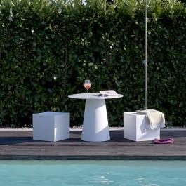 Poufs Lounge Cube Blancs Pur 1825 JardinChic