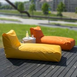 Poufs Sunbed Orange et Yellow Pusku Pusku Jardinchic