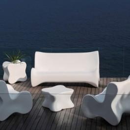 Salon de Jardin Doux 1 Fauteuil + 1 canapé + 1 table basse  Vondom jardinChic