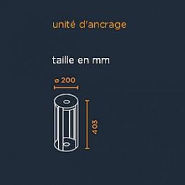 Schéma unité d'ancrage pour borne Mitu