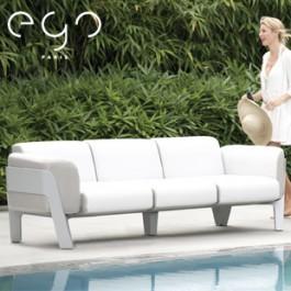 Sofa 3 Places Bienvenue Structure Laque Argent Coussins Athens Ego Paris Jardinchic