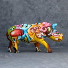 Statue Rhinocéros Pop Art TexArtes Jardinchic