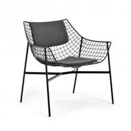 Fauteuil Lounge Summer Set Structure Noir Varaschin Jardinchic