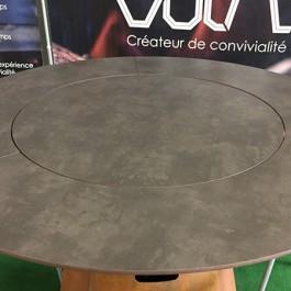 Sur-plateau HPL pour Tables Hautes Fusion Gaz et Bois