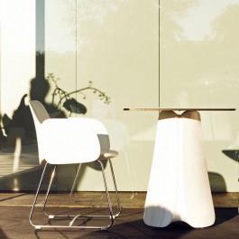 Table Avec Plateau HPL & Chaise Avec Accoudoirs Pezzettina Vondom JardinChic