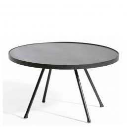 Table Basse Attol Aluminium Ronde Anthracite Oasiq Jardinchic