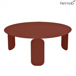 Table Basse Bebop Ocre Rouge Ø80cm Fermob Jardinchic