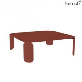 Table Basse Carrée Bebop H29cm Ocre Rouge Fermob Jardinchic