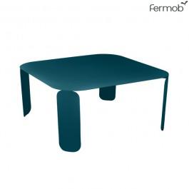 Table Basse Carrée Bebop H42cm Bleu Acapulco Fermob Jardinchic