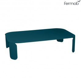Table Basse Rectangulaire Bebop H29cm Bleu Acapulco Fermob Jardinchic