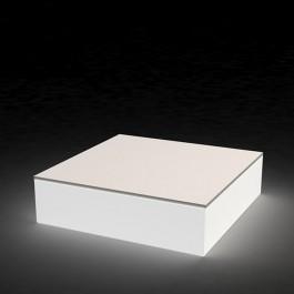 Table basse lumineuse quadrat détail Vondom JardinChic