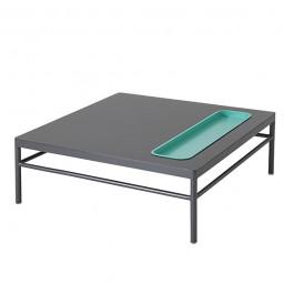 Table Basse Rivage 85x85cm Anthracite Niche Lagon Vlaemynck Jardinchic