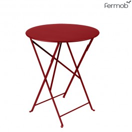 Table Bistro Ø60cm Piment Fermob Jardinchic