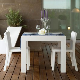 Table Carrée Jut Blanc Vondom Jardinchic