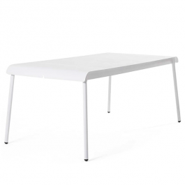 Table Repas Corail 180x90cm Blanc Oasiq Jardinchic
