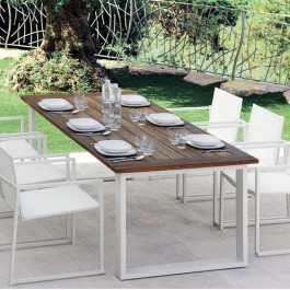 Table de Repas Essence Teck Talenti JardinChic