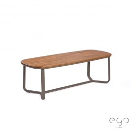Table de Repas Marumi Medium Taupe / Teck EGO Paris Jardinchic
