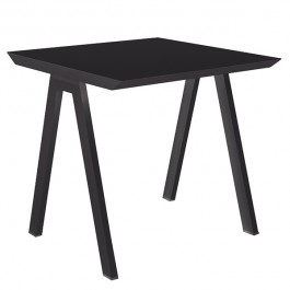 Table de Repas Vanity 80x80cm Anthracite Vlaemynck Jardinchic