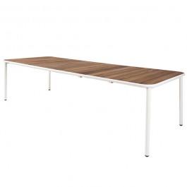 Table Extensible Plateau Frêne Thermotraité Yard Blanc Cassé Emu JardinChic