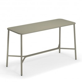 Table Haute Plateau Aluminium 180cm Yard Gris Vert Emu JardinChic